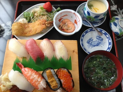 一心鮮魚店の寿司定食